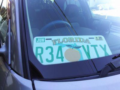 フロリダデザインのオリジナルナンバープレート