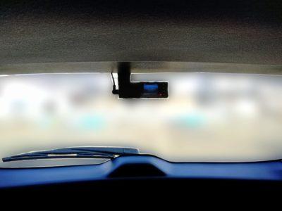 ドラレコの配線:レヴォーグのドラレコ取り付け場所を車内から