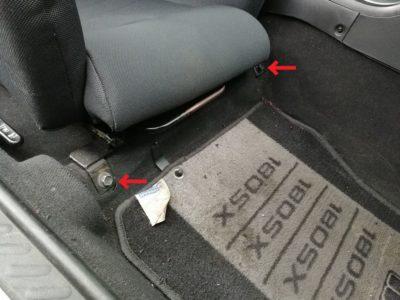 運転席側シート取り外し(フロント側)