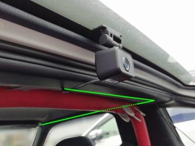 DRV-MR740のリアカメラ取付位置