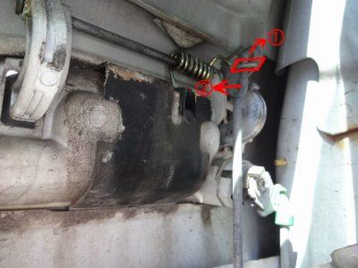 180SX:アウターハンドルのドアオープン用ロッド