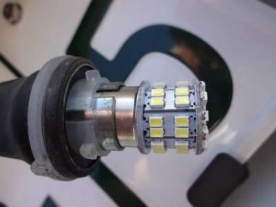 180SXナンバー灯LED化