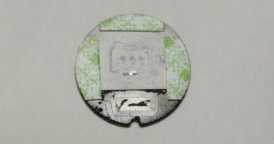 デフォッガースイッチの温泉マーク部分の裏に両面テープ貼り付け