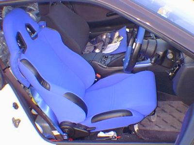 かつて乗っていた180SXの運転席シートはエムツー販売のType-TS青
