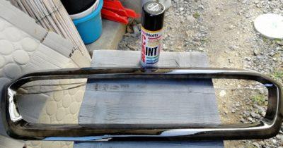 1回目の塗装後乾燥中