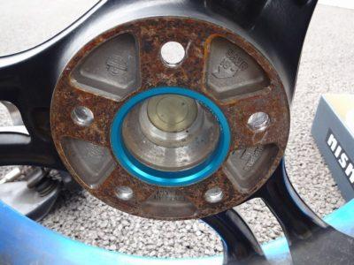 Super ADVAN Racingにハブリング装着