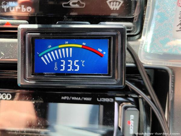 温度計本体の取り付け位置